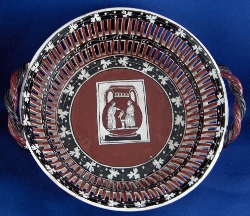 Rare DelVecchio Earthenware Creamware Reticulated Basket Korb Italian Italy #DocciaItalian