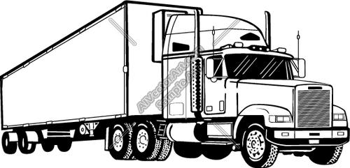 Semi Truck Drawings Semi1 Clipart And Vectorart Vehicles Semi Trucks Vectorart And Semi Trucks Trucks Truck Art