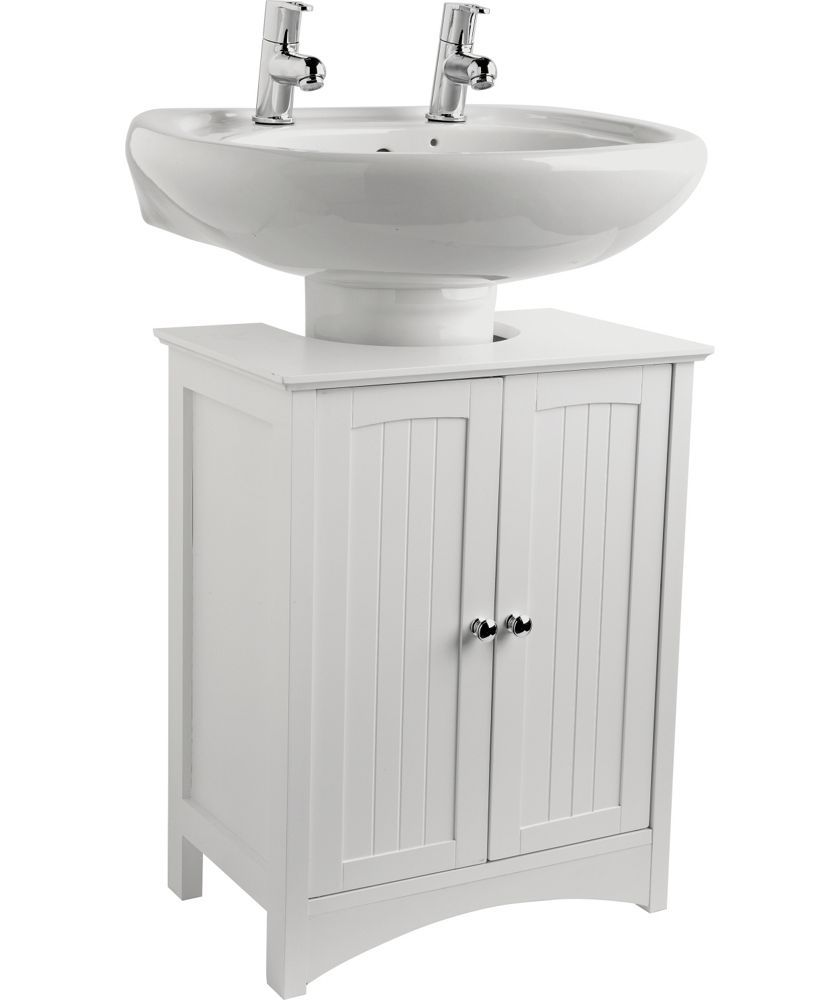 Buy Tongue And Groove Under Sink Storage Unit White At Argos Co Uk Your Online Shop For Bathroom She Under Sink Storage Bathroom Storage Units Sink Storage