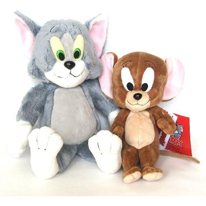 "2PCS Tom and Jerry Plush Dolls Soft Stuffed Animal Cartoon Toys 10/"""