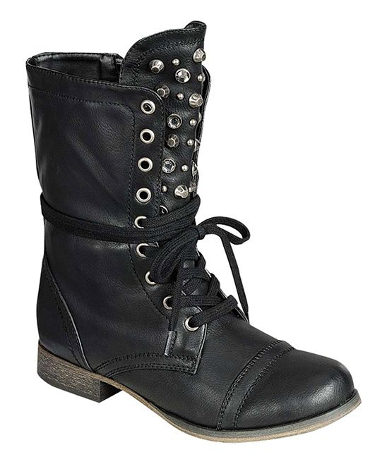 Black Studded Atlanta Boot | zulily