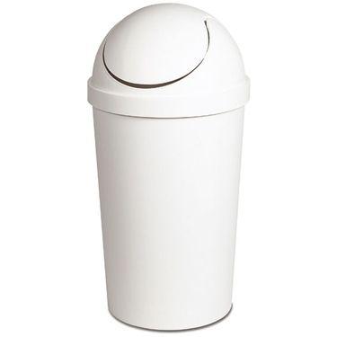 Sterilite White Swing Top Trash Can Wastebasket 10 5 Gallon