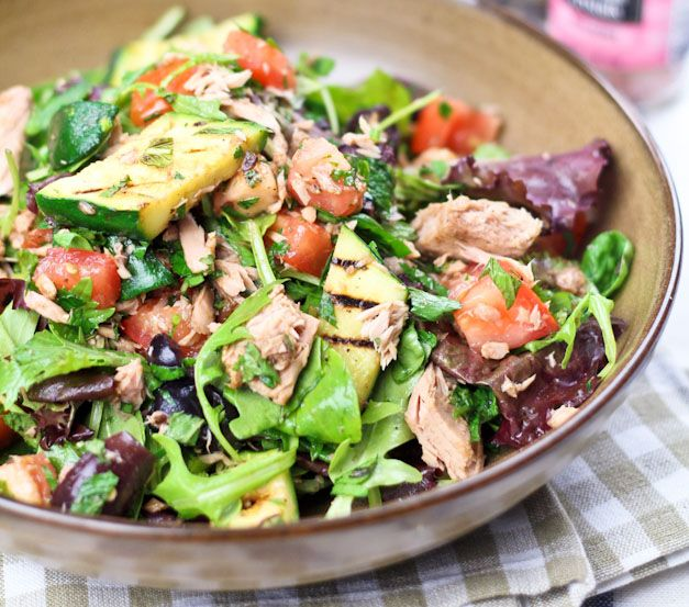 Tuna & Grilled Zucchini Salad #paleo #food #recipes #primal
