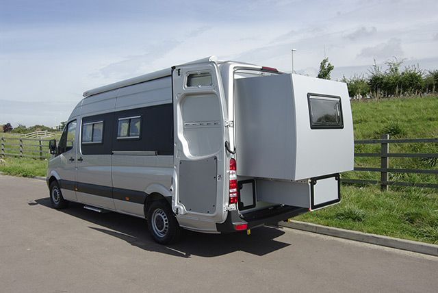 Chameleon launch new motorhome with slide out rear section to chameleon launch new motorhome with slide out rear section to sleep 4 camper van sciox Gallery