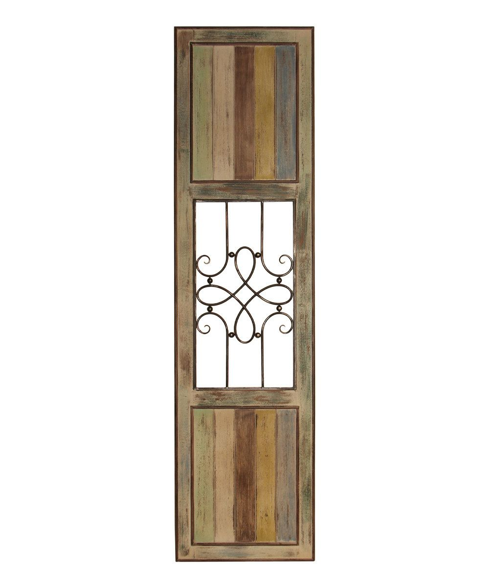 Look at this Wood & Metal Panel on #zulily today!