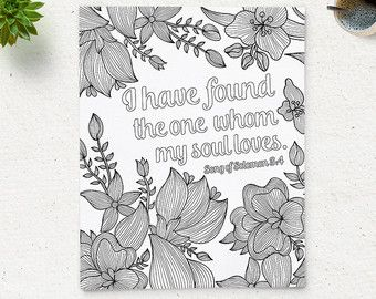 Printable Adult Coloring Page Bible Verse Matthew by ColoringPage ...