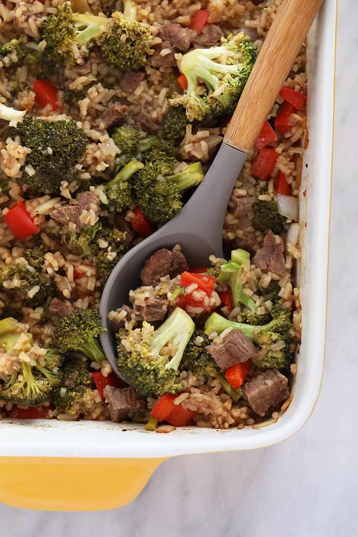 Beef and Broccoli Casserole (easy & healthy!) - Fi
