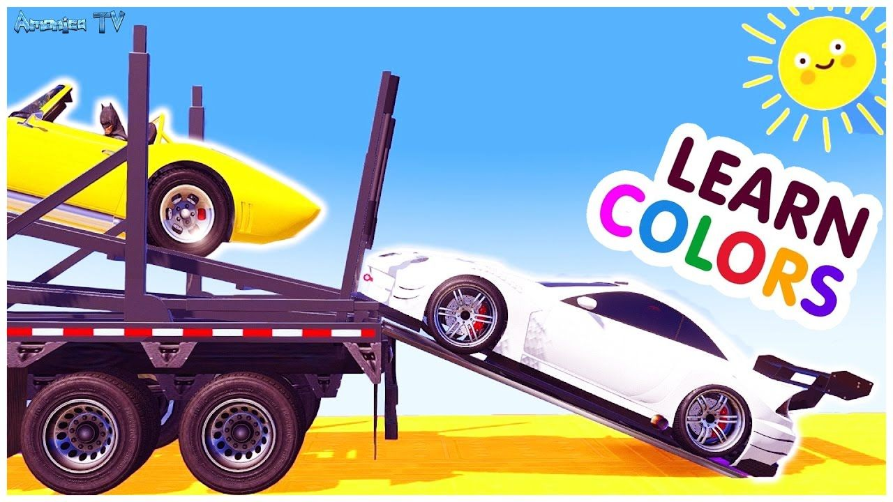 Learn Colors For Children With Small Cars Car Cartoon Learn For Kids To Colours Amonica Tv Learning Colors Kids Learning Videos Small Cars