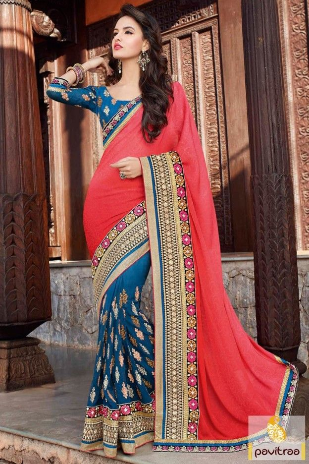 Clothes, Shoes & Accessories Bollywood Sari Indian Women Ethnic Wedding Designer Saree Traditional Party Wear Cool In Summer And Warm In Winter Women's Clothing