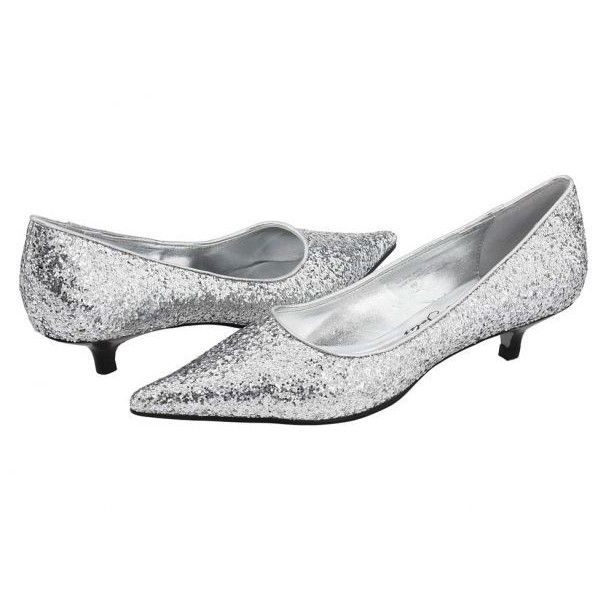 "Has Anyone Seen 2"" Glitter Heels? Weddingbee boards found on Polyvore"