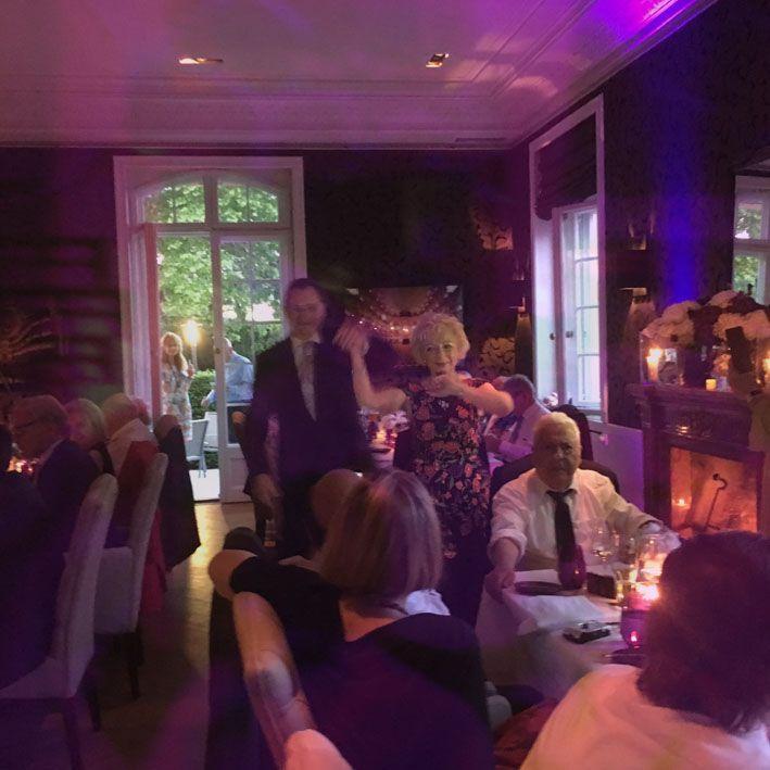 Brigitte & Werner, Restaurant Villa Merton, Frankfurt, Mai