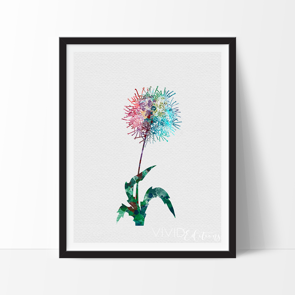 Dandelion Flower Watercolor Art Print Watercolor Art Prints Watercolour Nursery Art Art Prints