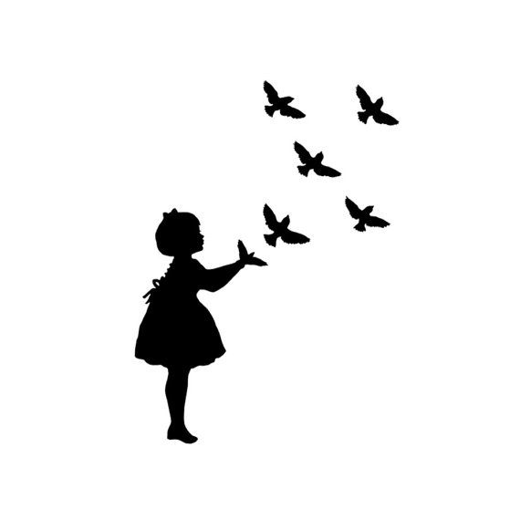 Bird Shadow Puppet Silhouette Print Black And White Birds Etsy Shadow Puppets Black And White Birds Bird Silhouette