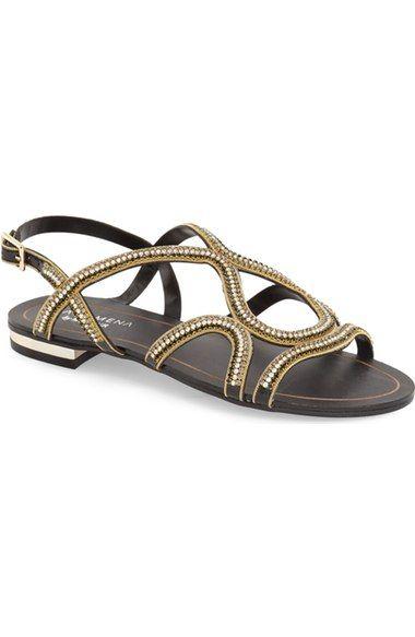 Menbur 'Acedera' Embellished Flat Sandal (Women) available at #Nordstrom