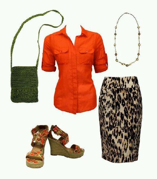 una falda print, tres tendencias: colour block #fashion #moda #trends