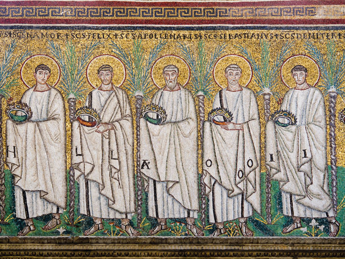 basilica of sant u0027apollinare nuovo detail of the mosaic la