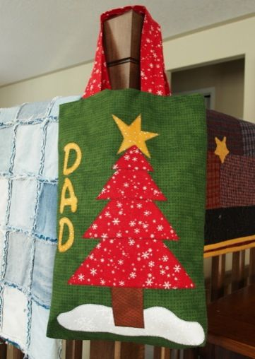Personalised Christmas bag - A Technique Tuesday Post