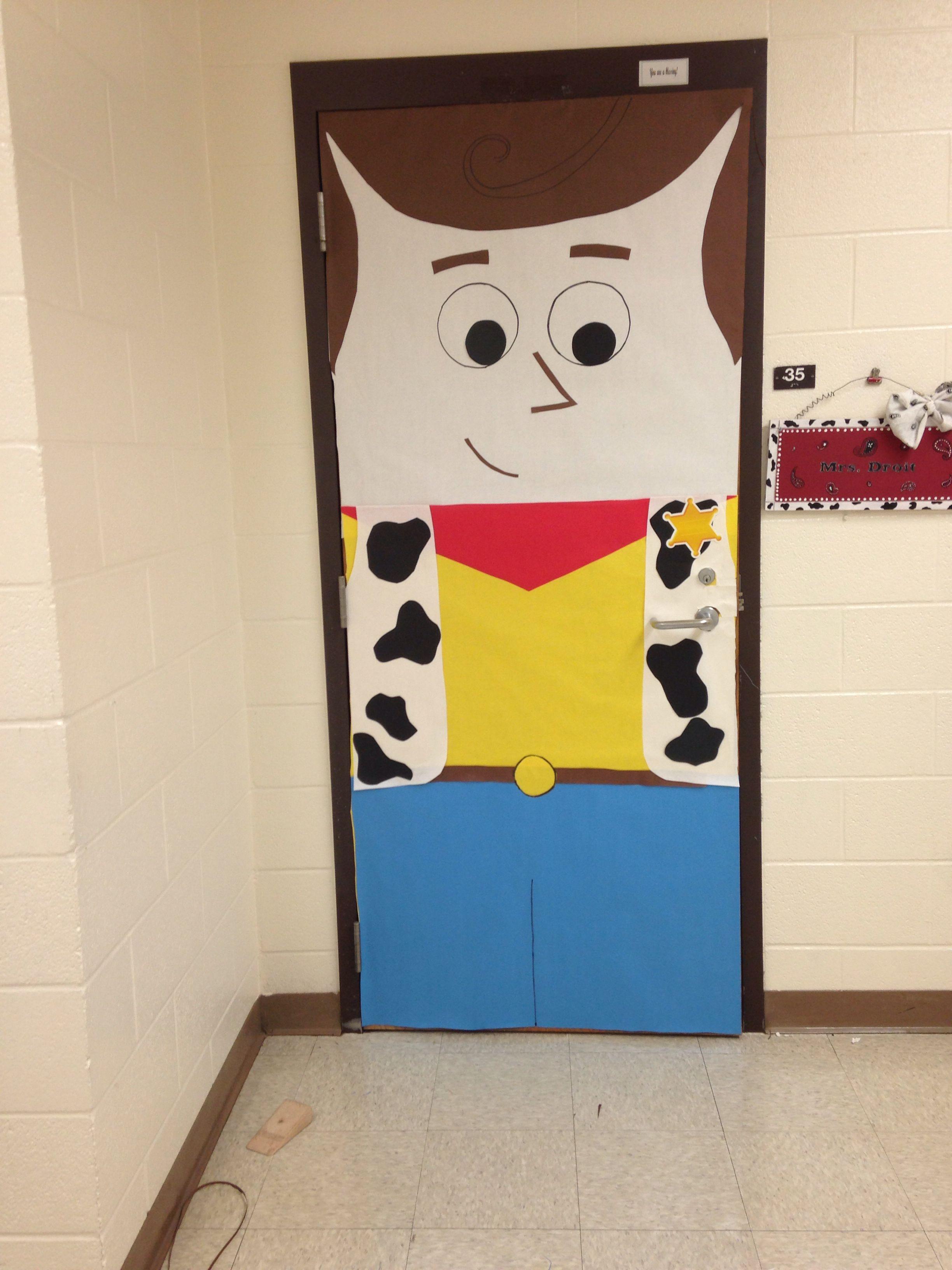 Woody classroom door decor Toy Story | Door decorations ...
