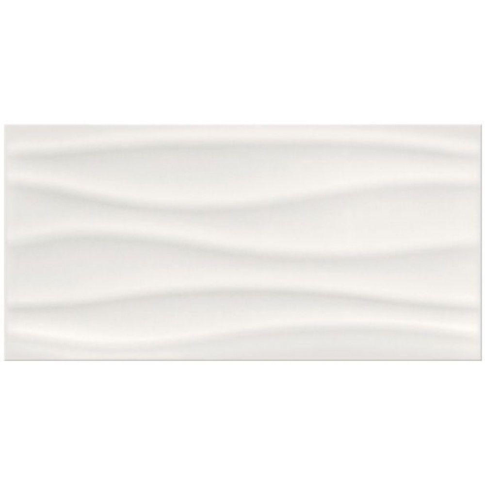 Barletta Wave White Glossy Gloss 3d D 233 Cor Feature Wall