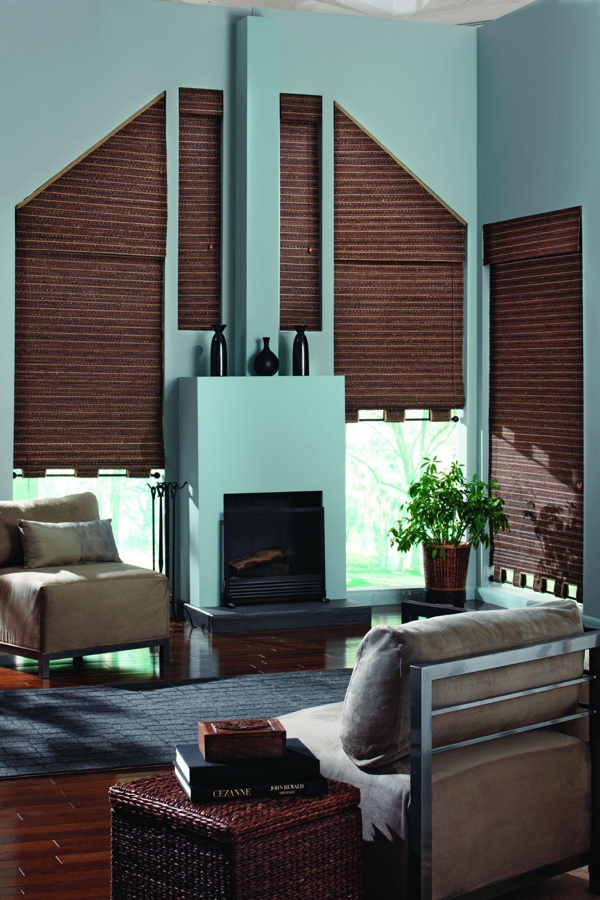 Triangle windows photos supplying wooden window shutters for - Angle Top Angle Bottom And Triangle Window Treatments Woven Wood Shadesshaped Windowswindow