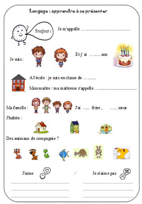 Souvent l'oral en outil : se présenter | Idées pour la classe | Pinterest  ZB81