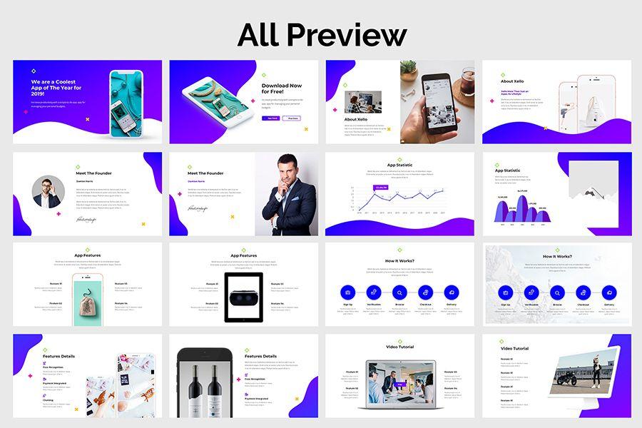 Mobile App Google Slide Proposal Presentation Template Presentation Templates Presentation Project Presentation
