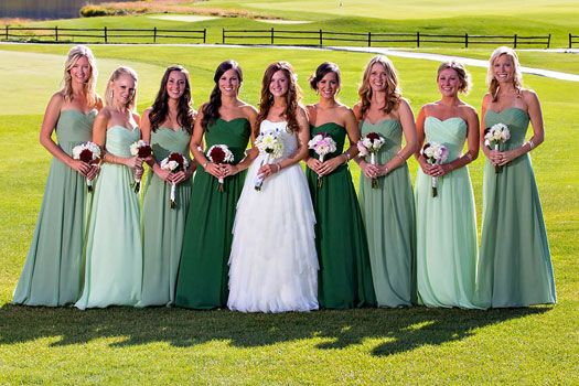 Wedding Party Photos With Diffe Colored Bridesmaid Dresses Google Search