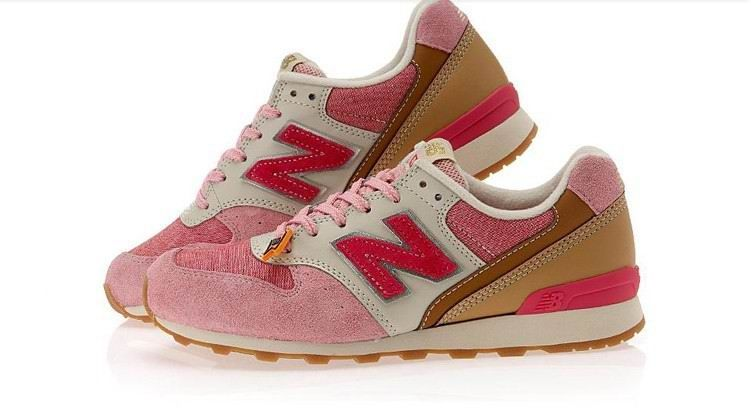 Joe New Balance Retro Running Pink Red Grey 996 Women Shoes