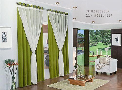 cortinas para ventanas grandes - Buscar con Google decoración