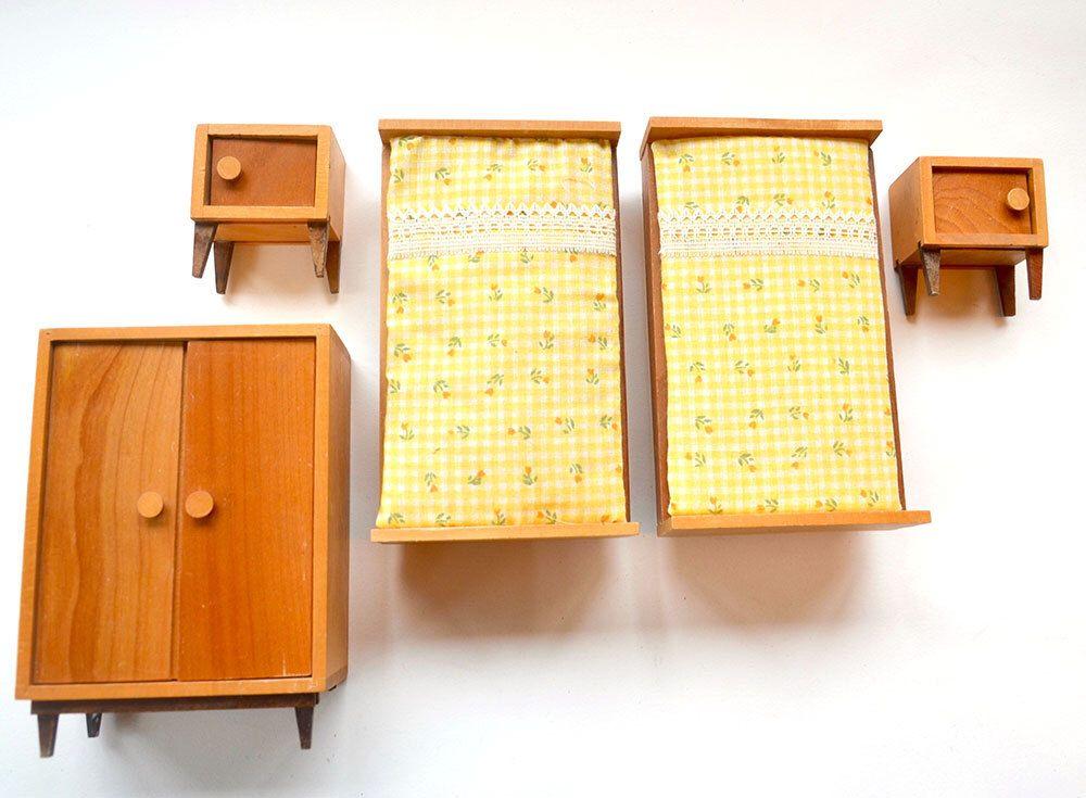 BODO HENNIG Doll House Miniature Art Deco BAUHAUS Furniture Doll s. 1950s 1960 Vintage Antique Orig  BODO HENNIG Doll House Miniature