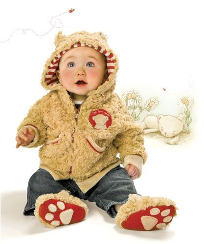 Bunnies  By The Bay Bao Bao Bear Coat-bunnies by the bay, bao bao bear coat, coat, bear, furry, boy, infant, newborn, trendy, baby boutique, gift, baby shower gift