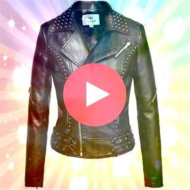 Black Color Motor biker Genuine Leather Jacket With Silver Studs Slim Fit New Leather Black Leather jacket for women  Coats  Jackets Studded Biker Jacket Great for A H Ap...