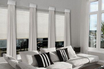 Contemporary Cornice Window Treatments Contemporary Family
