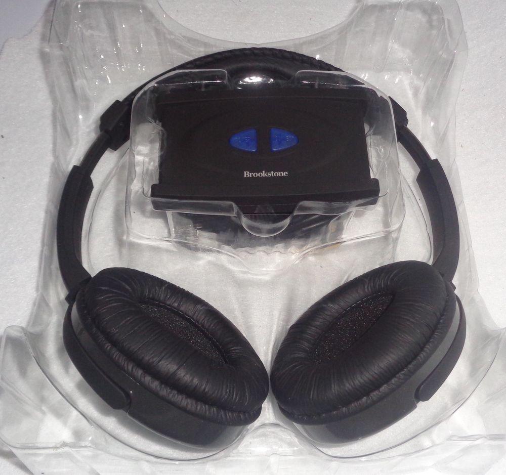 ce4869dba79 BROOKSTONE WIRELESS TV CD DVD HEADPHONES Music Movies Hearing Impaired # Brookstone