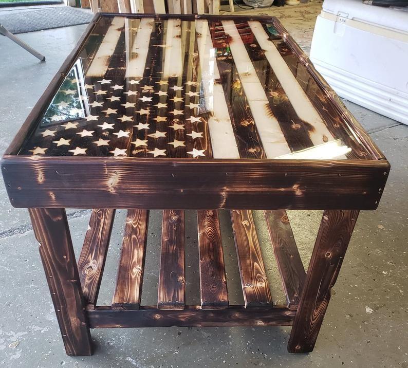 American flag coffee table etsy in 2020 american flag