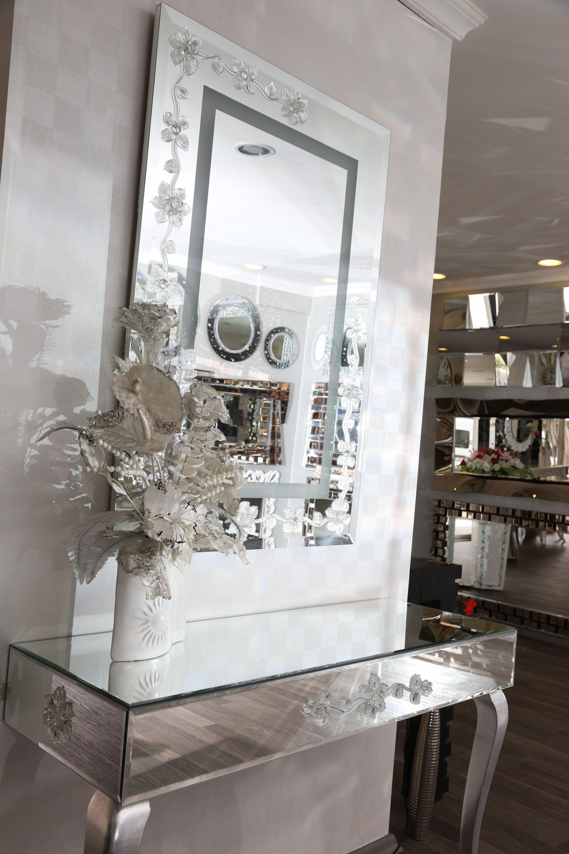 ayna mirror dekoratif duvar Banyo kaplama varak modern eskitme konsol decor dresuar