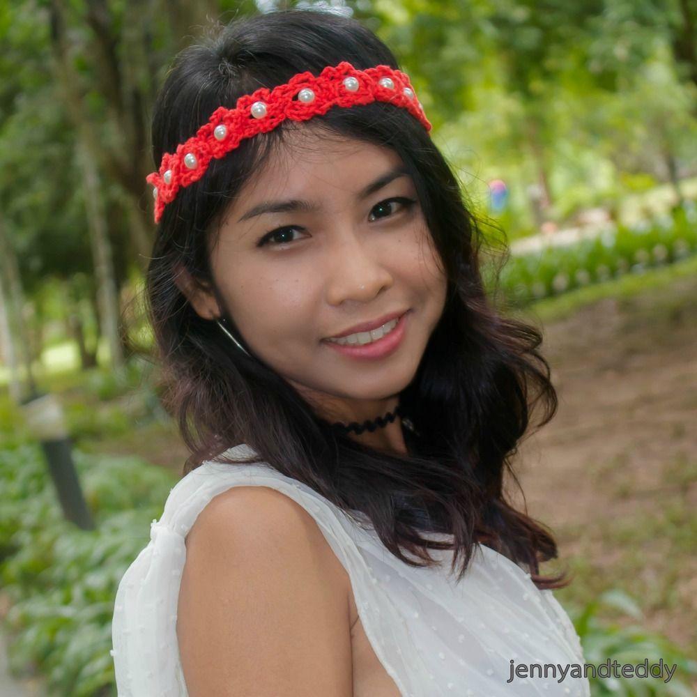 10 Minutes Beaded Flower Headband | Pinterest