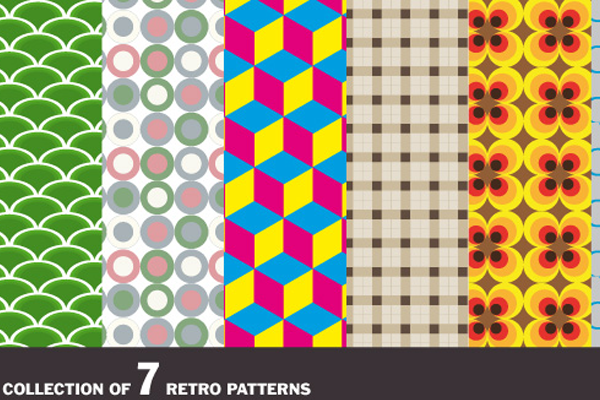 Vintage Retro Patterns Illustrator Vectors Freebie Retro Vector