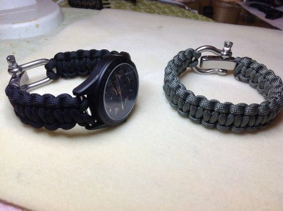 Just Made This Paracord Watch Band With An Adjustable Shackle