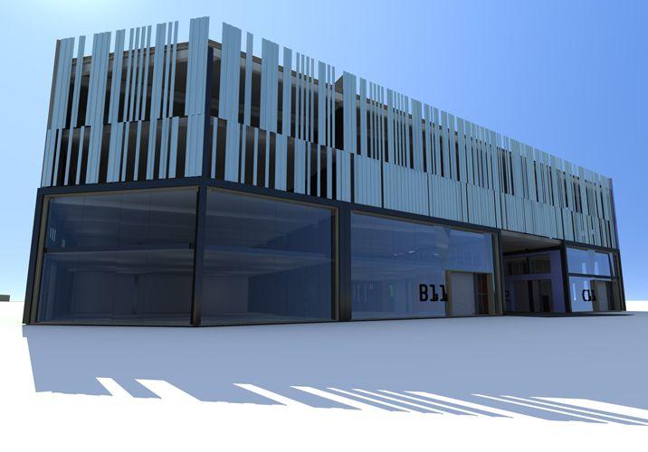Arquitectura naves industriales locales pinterest for Diseno oficinas industriales