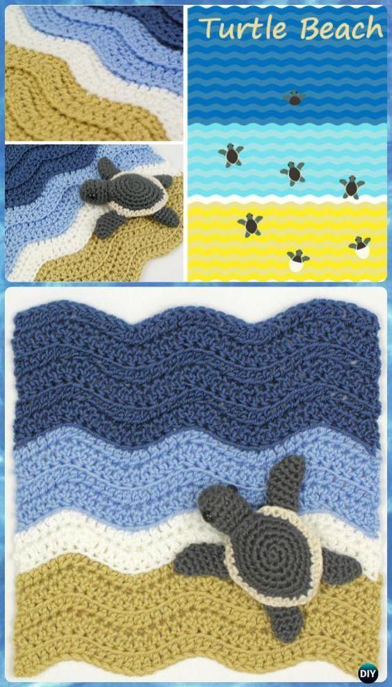 Crochet Turtle Beach Blanket Free Pattern - Crochet Crochet Summer ...