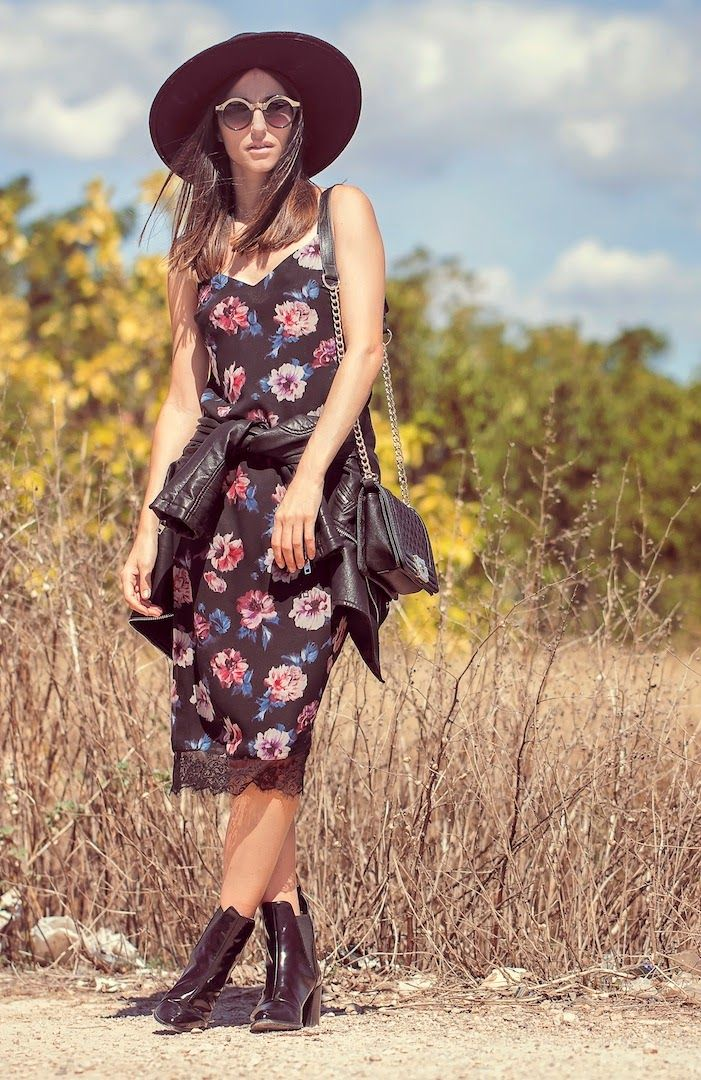 ZARA LINGERIE STYLE FLORAL DRESS