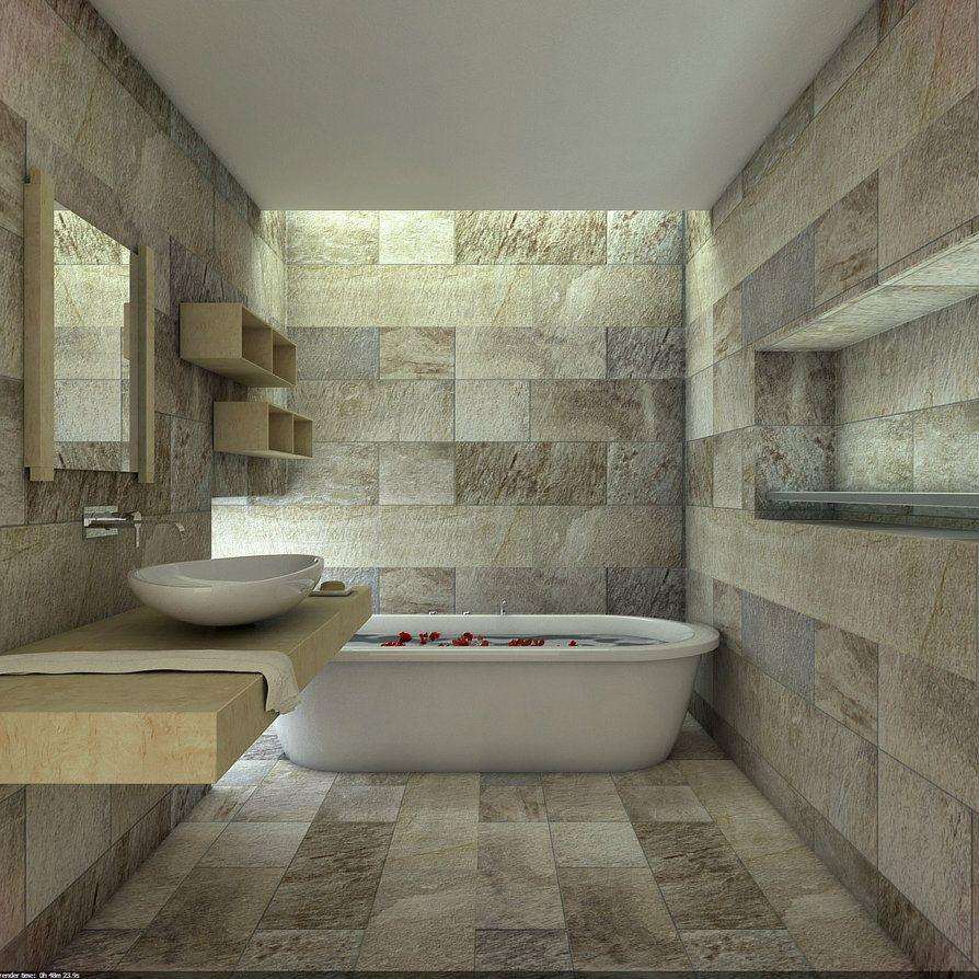Natural Stone Bathroom By Overstone On Deviantart Badezimmer
