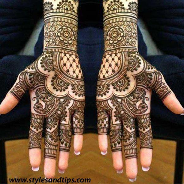 easy mehndi design for wedding