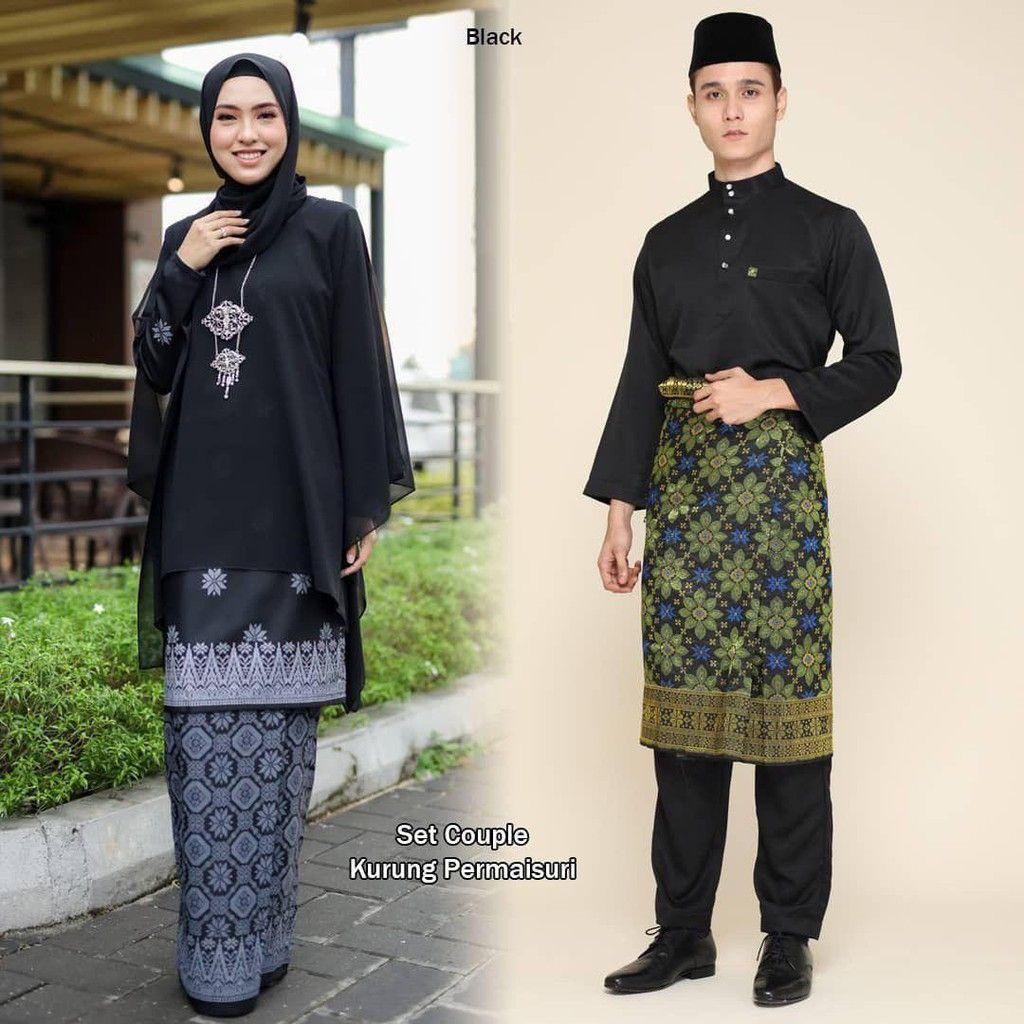 Sedondon Baju Kurung Queen Kain Corak Batik Printed Dengan Chiffon
