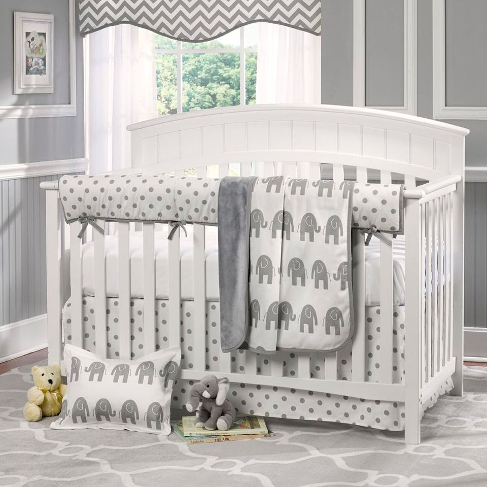 Grey walls with cream carpet nursery google search for Baby cot decoration ideas