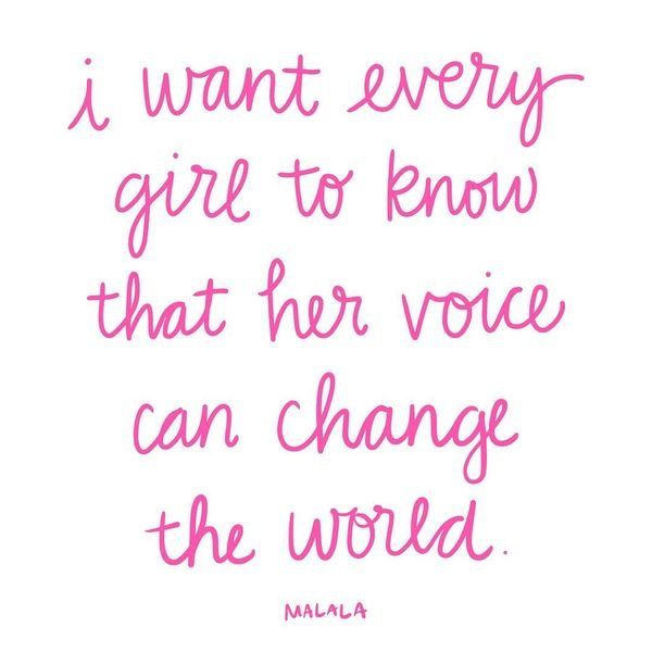 Women Power Quotes Awesome Malala Quote Women's Empowerment  I Do Declare  Pinterest