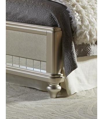 Diva Queen Upholstered Bed in Platinum Bling Upholstered