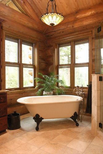 Bathroom Log Home Design, Pictures, Remodel, Decor and Ideas - page