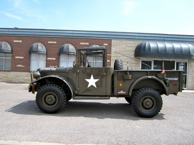 1953 DODGE M37 POWER WAGON 3/4 TON ARMED FORCES CARGO TRUCK